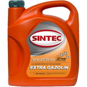 SINTEC Extra Gazolin SAE 20w50 API SG/CD (5 литров)